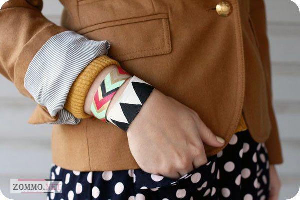 Кожаный браслет из кожи с узорами своими руками
