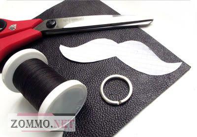 Инструменты и материалы для изготовления кожаного брелка