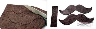 Заготовки из кожи для брелка