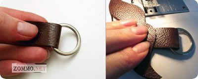 Как сделать брелок в виде усов из кожи