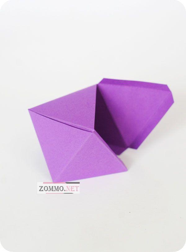 Как сделать необычную бумажную коробочку