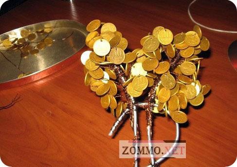 Ствол денежного дерева своими руками