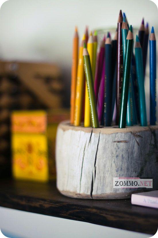 Деревянная подставка для карандашей своими руками