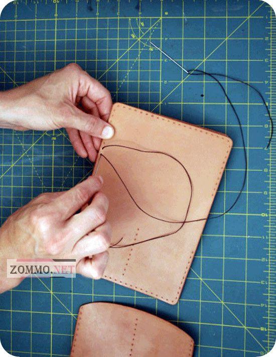 Обложка для паспорта, процесс изготовления