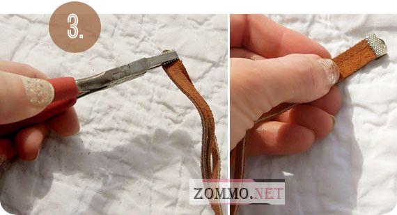 Делаем плетеный браслет из кожи