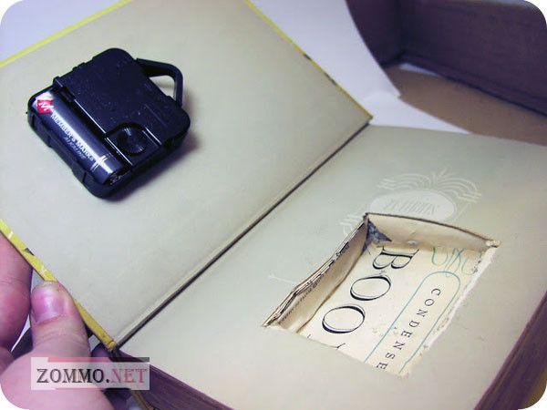 Часы в книге мастер класс