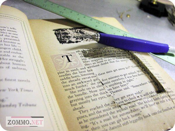 Вырезаем отверстие в книге