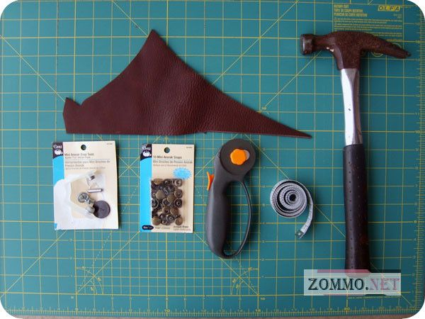 Материалы для создания браслета из кожи