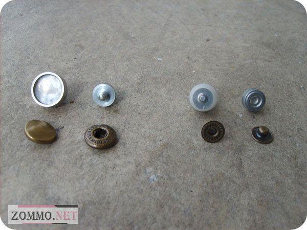 Кнопки и инструменты для браслета