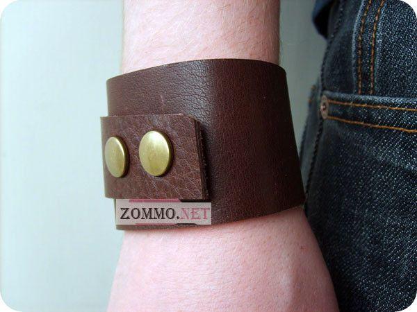 Оригинальный кожаный браслет своими руками