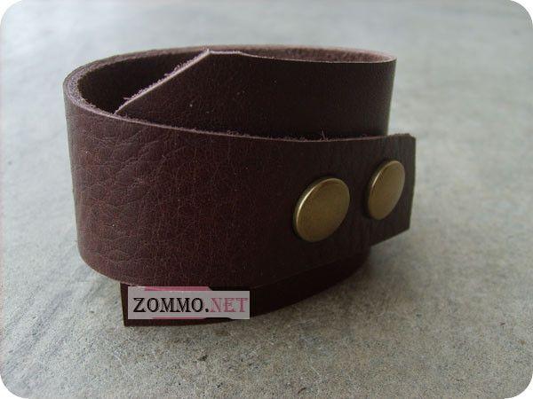 Кожаный браслет интересной формы своими руками