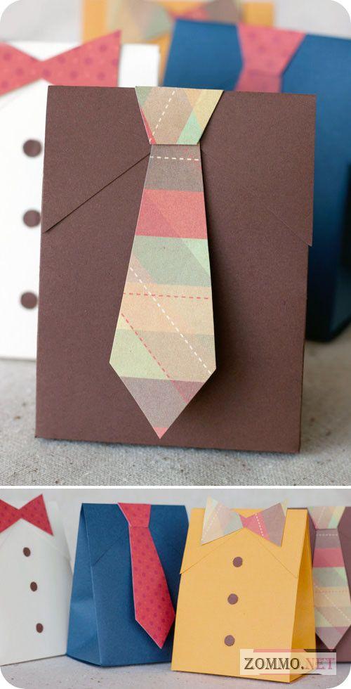 Мужская подарочная упаковка с галстуком