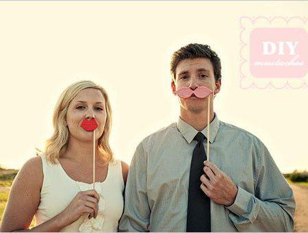 Усы и губы на палочке своими руками