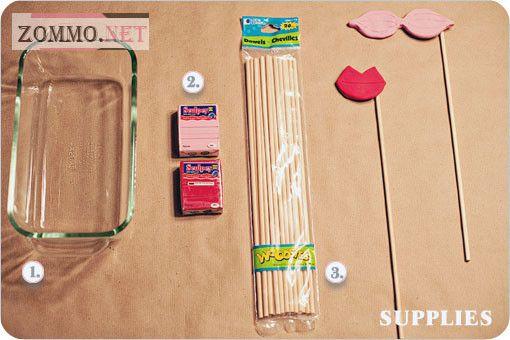 Материалы для накладных усов и губ