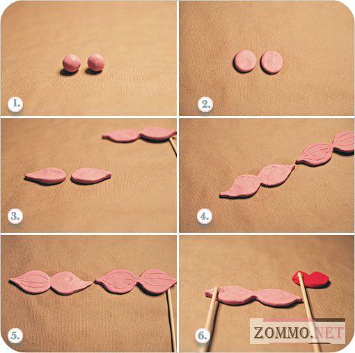 Как сделать накладные усы