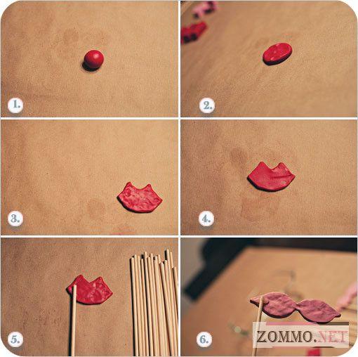 Как сделать накладные губы на палочке своими руками