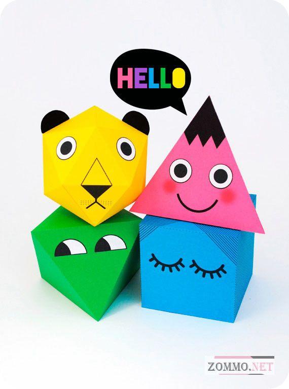 Объемные детские игрушки из бумаги своими руками