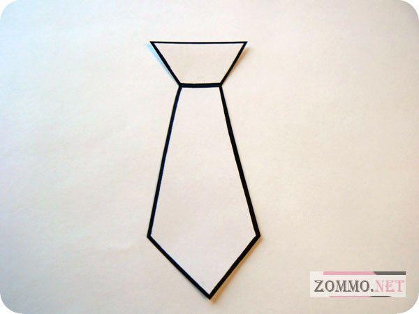 Рисуем галстук из бумаги