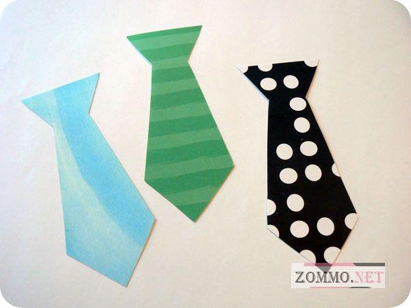 Цветные галстуки для открытки