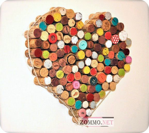 Сердце из винных пробок