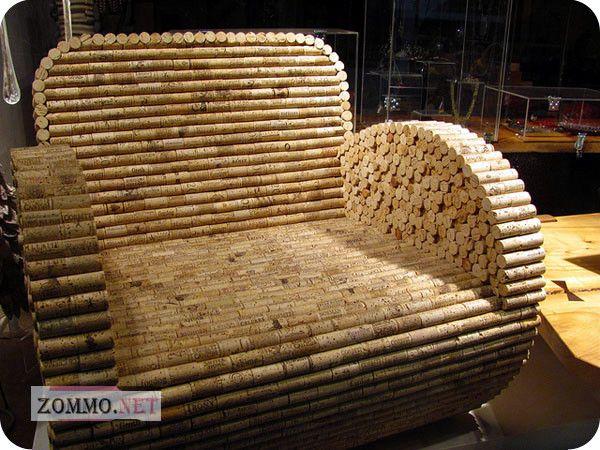 Кресло из винных пробок
