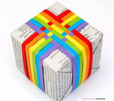 Радуга из ленточек для украшения упаковки