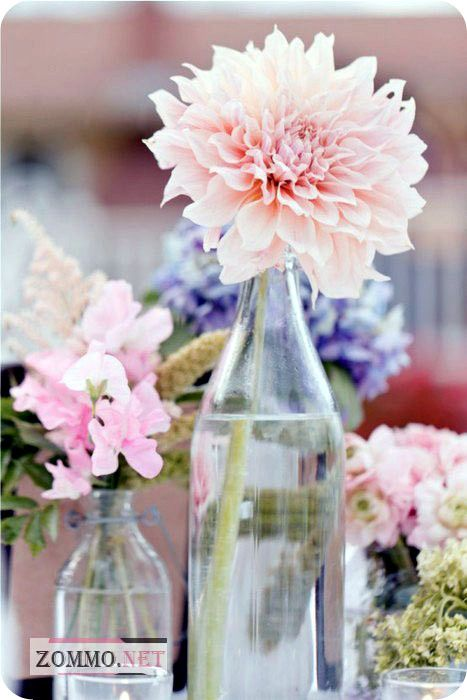 Стеклянная бутылки под цветы