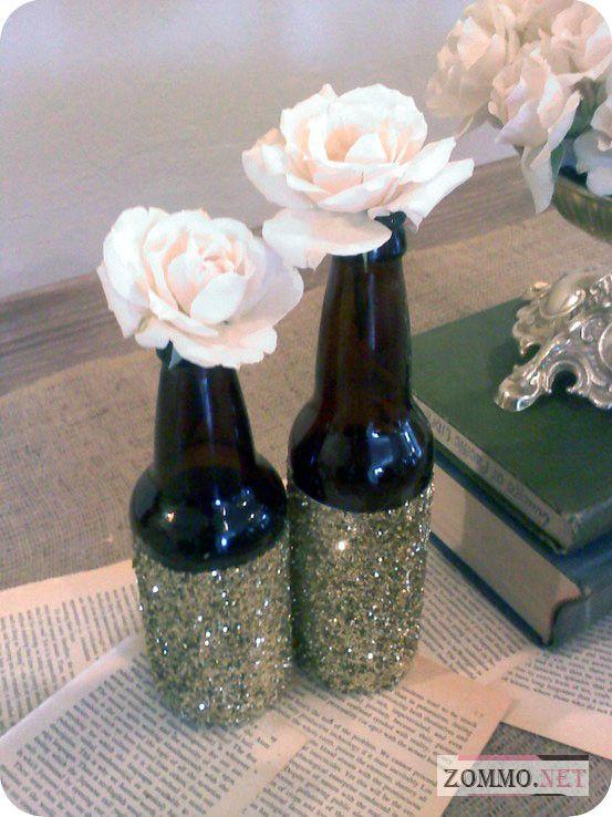 Подставка для цветка из пивной бутылки