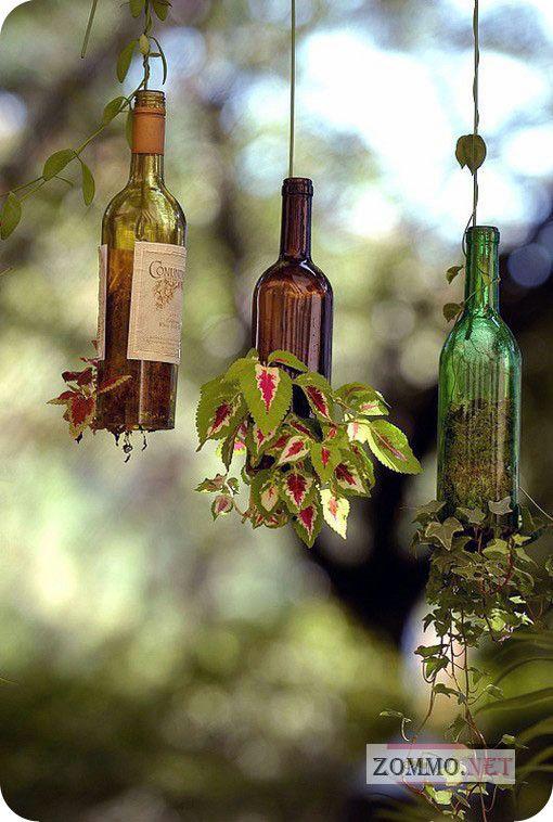 Подставка для цветов из бутылок