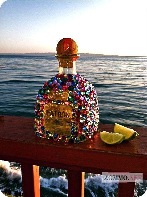 Красивая Handmade бутылка