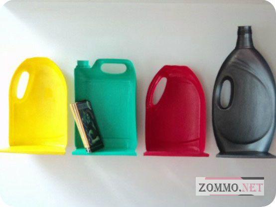 Полочки из старых пластиковых бутылок