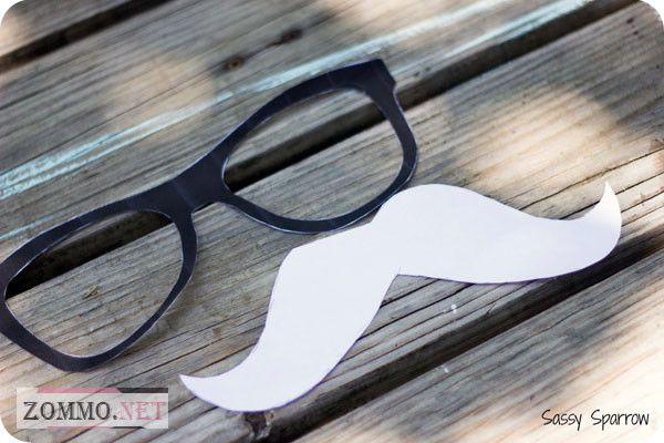 Трафареты очки и усы