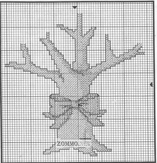 Схема вышивки денежное дерево
