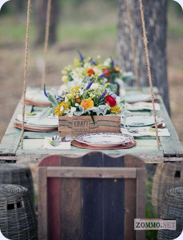 Дачный столик из оконной рамы