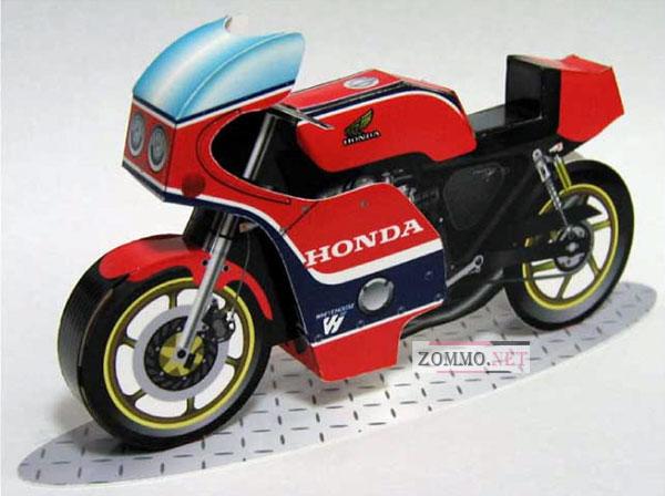 Мотоцикл Honda-CB750 из бумаги