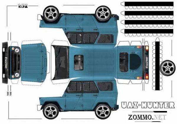 Машина УАЗ HUNTER из бумаги