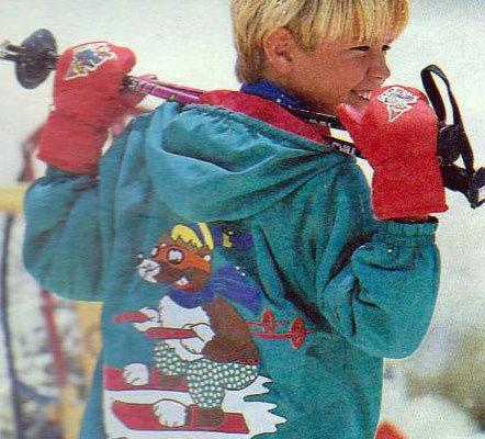 """Аппликация из ткани """"веселый лыжник"""" своими руками"""