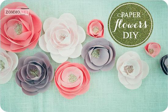Цветочные украшения из бумаги