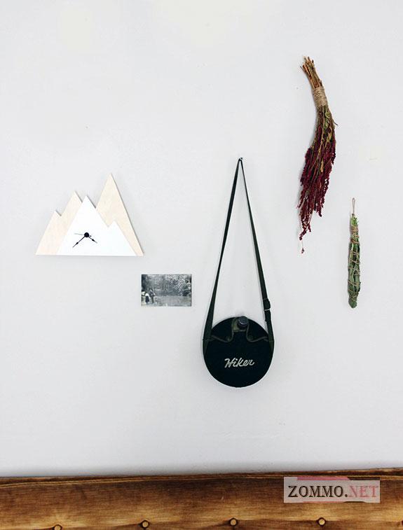 Простые настенные часы из дерева в виде гор своими руками