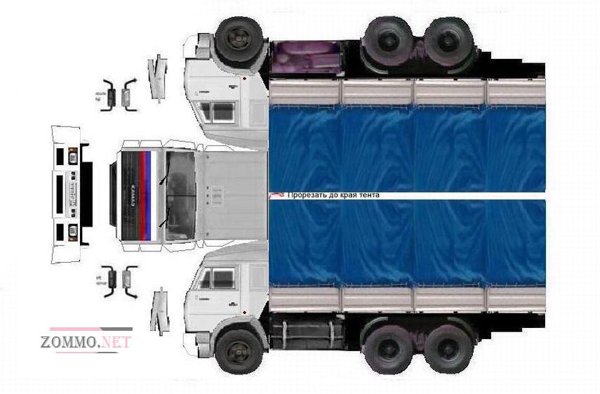 Схема грузовая машина