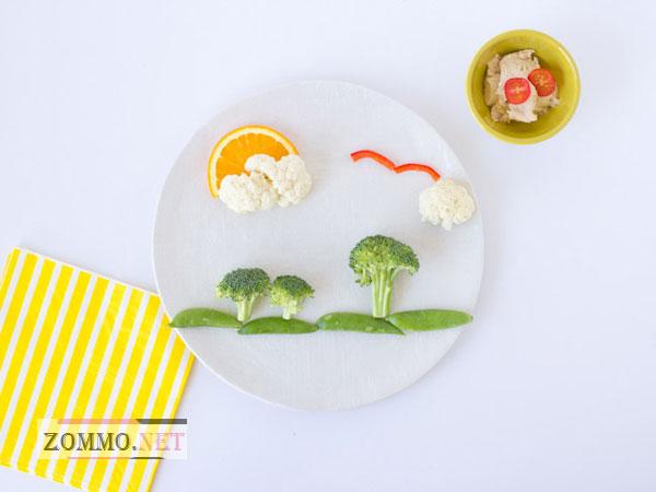 Ландшафт из овощей и фруктов