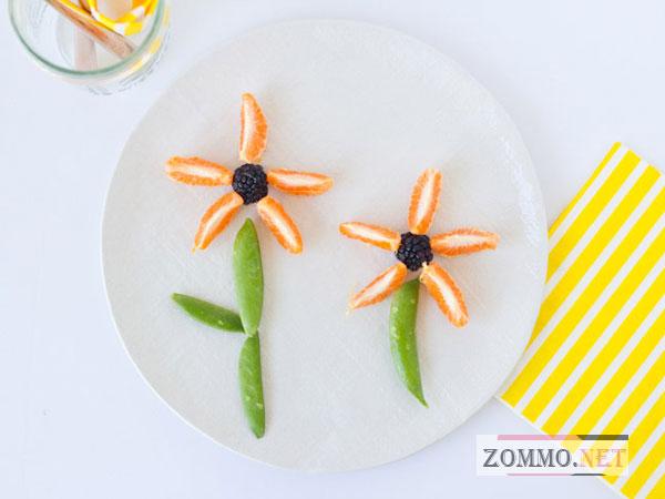 Цветы из еды