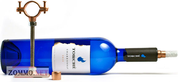 Креативный светильник из бутылки вина
