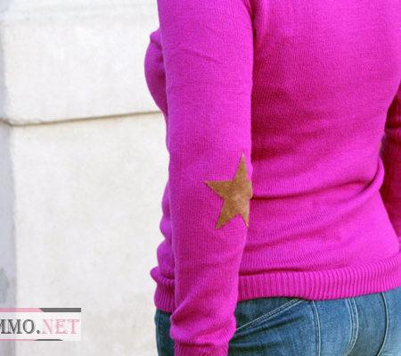 Латки для свитера в виде звезд