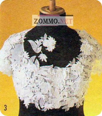 Крепим гипюр к блузке