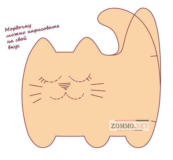 Коты из ткани шаблоны