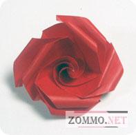 Простая оригами роза