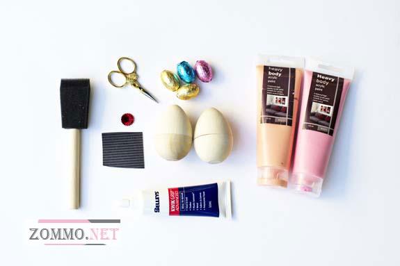 Инструменты и материалы для раскраски яиц