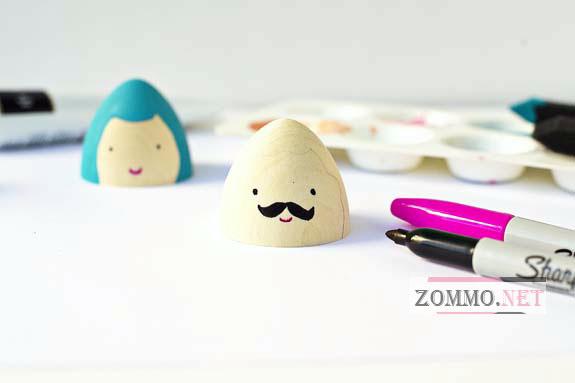 Рисуем лицо на пасхальном яйце