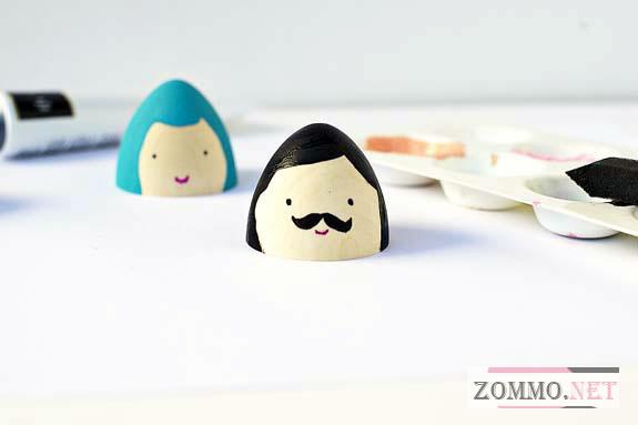 Рисуем на пасхальных яйцах
